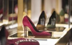 Burgandy stiletto heel in a luxury