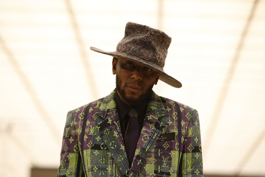yasiin bey, mos def, louis vuitton, virgil abloh, fall 2021 men's, menswear, paris fashion week