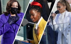 best inauguration fashion, monochrome trend, kamala