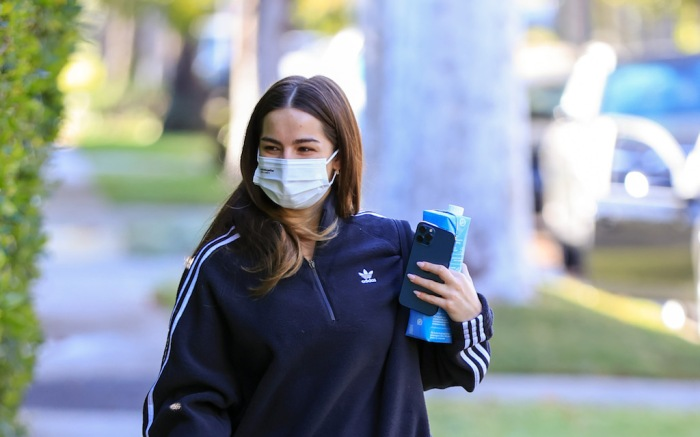 Addison Rae rocks Off White sneakers heading to her workout