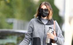 Kaia Gerber arrives at pilates in