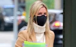 Nicky Hilton is walking back home