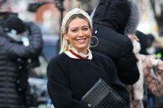 Hilary Duff Aces Winter Mom Style in 6-Inch Heeled Booties and This Clever Shoe Hack