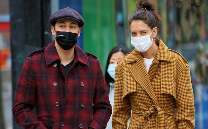 Katie Holmes And Emilio Vitolo, Jr. Walk To The Bowery Hotel In New York City