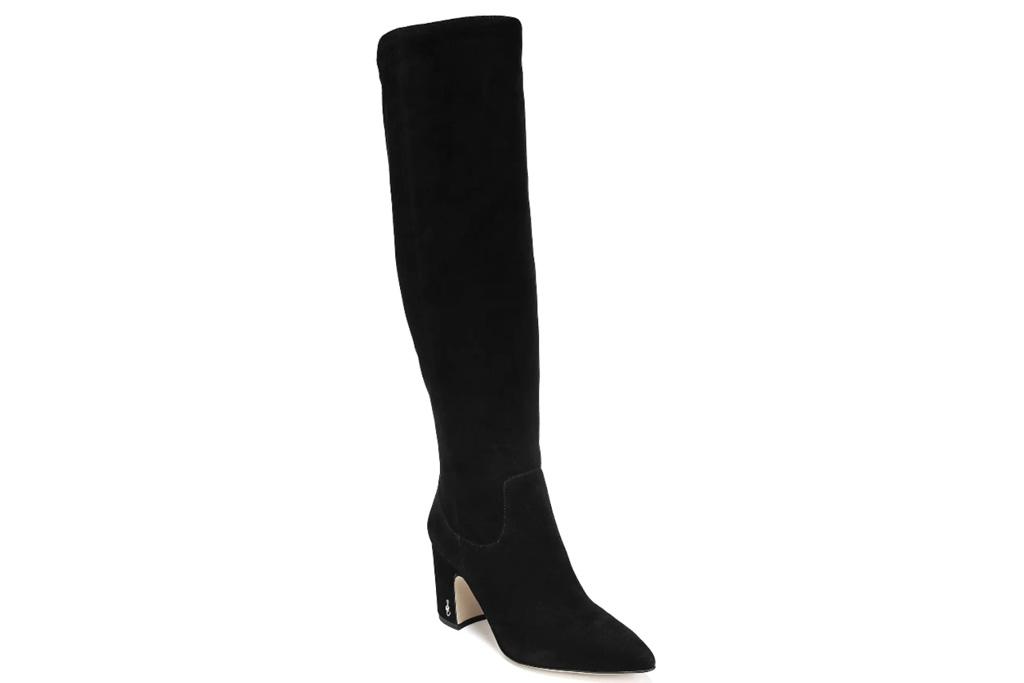black suede boots, boots, sam edelman