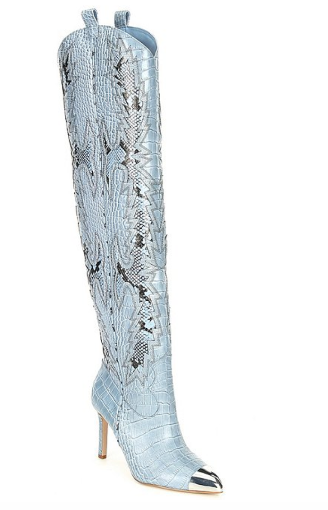 blue boots, gianni bini