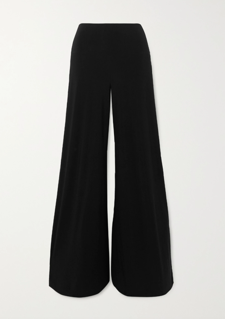 black pants, high-rise, norma kamali