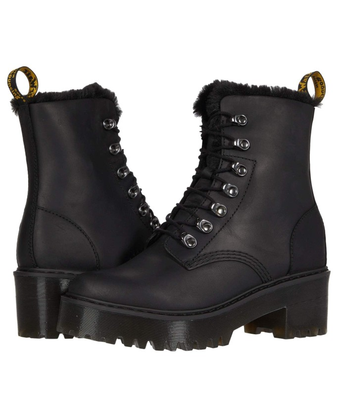 Dr. Martens Leona Faux Fur Platform Boot