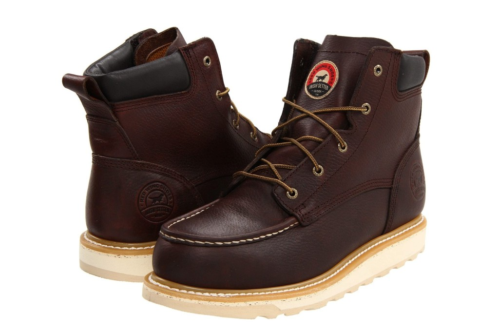 "Irish Setter 6"" Aluminum Toe Wedge Boot, men's work boots"