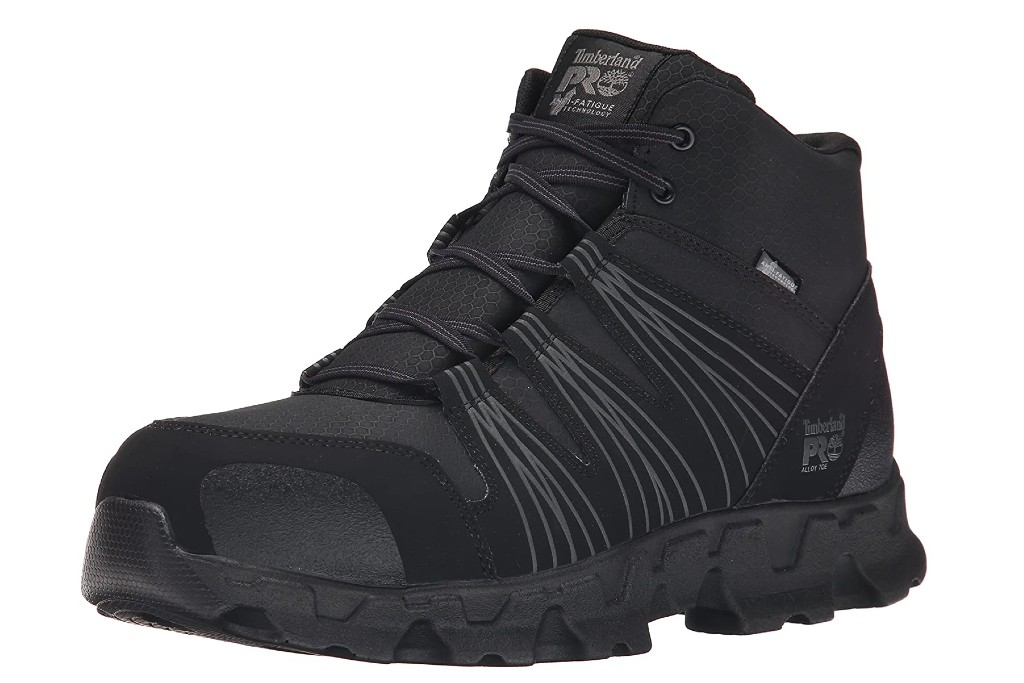 Timberland Pro Powertrain Mid Alloy-Toe Boots, work boots for men