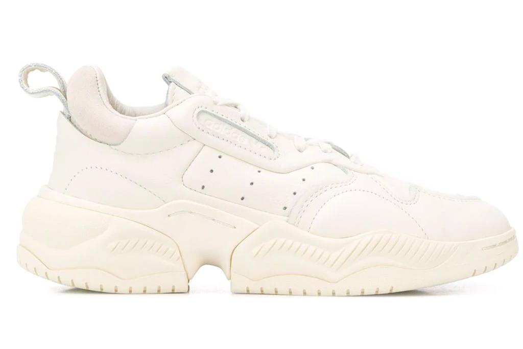 chunky sneakers, white, adidas