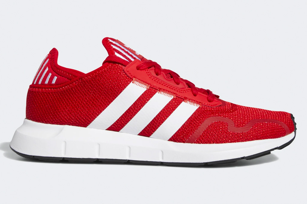 red sneakers, running shoes, adidas