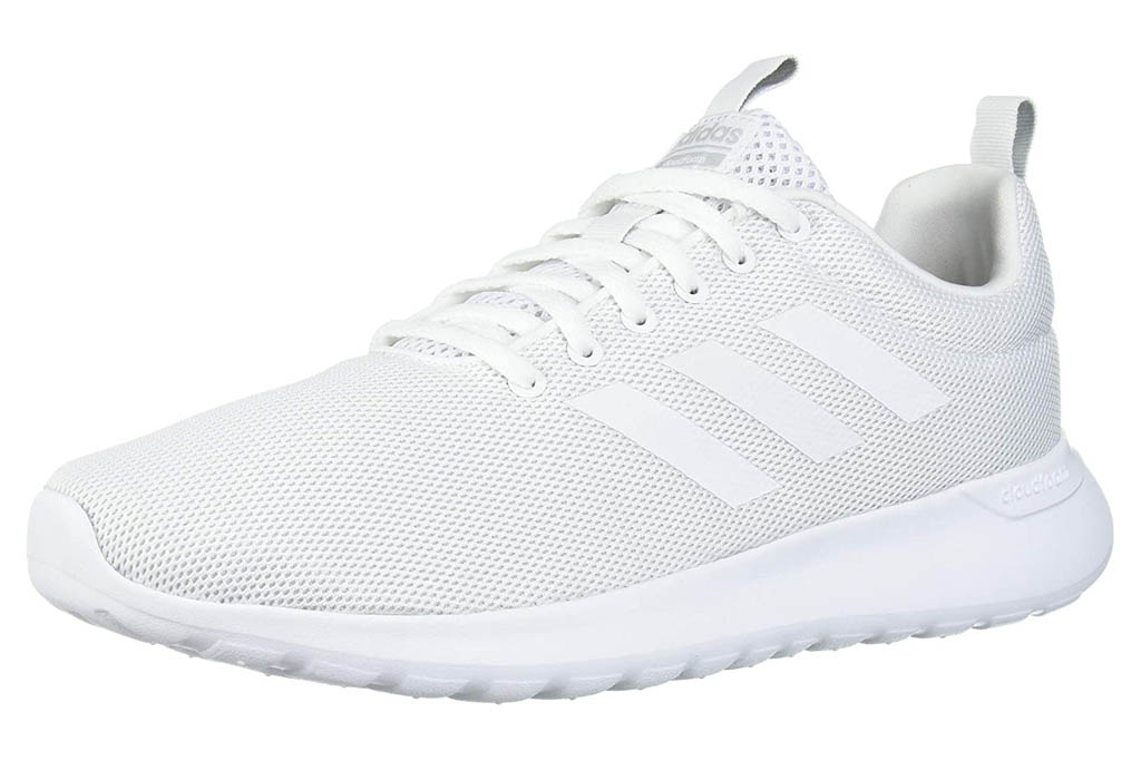 white sneakers, running shoes, adidas