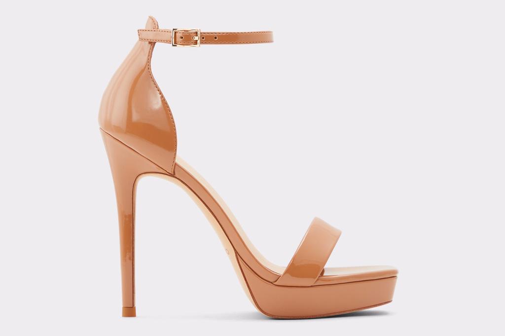 sandals, brown, heel, aldo