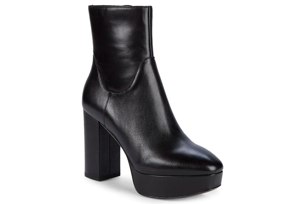 black boots, platform, ash