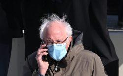 Vermont Senator Bernie Sanders arrives for