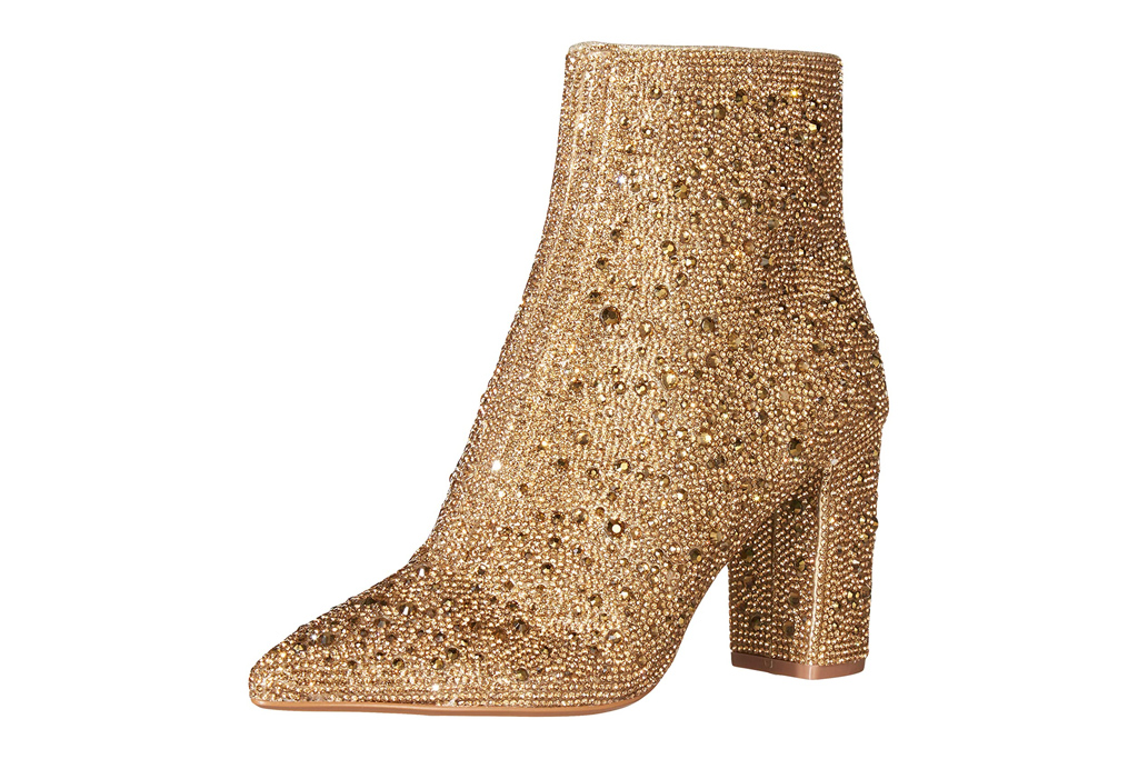gold boots, betsey johnson