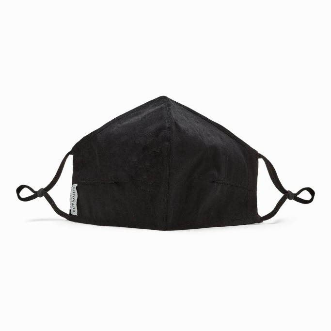 solid black pura vida face mask