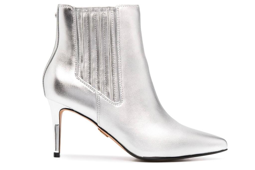 silver boots, metallic, buffalo
