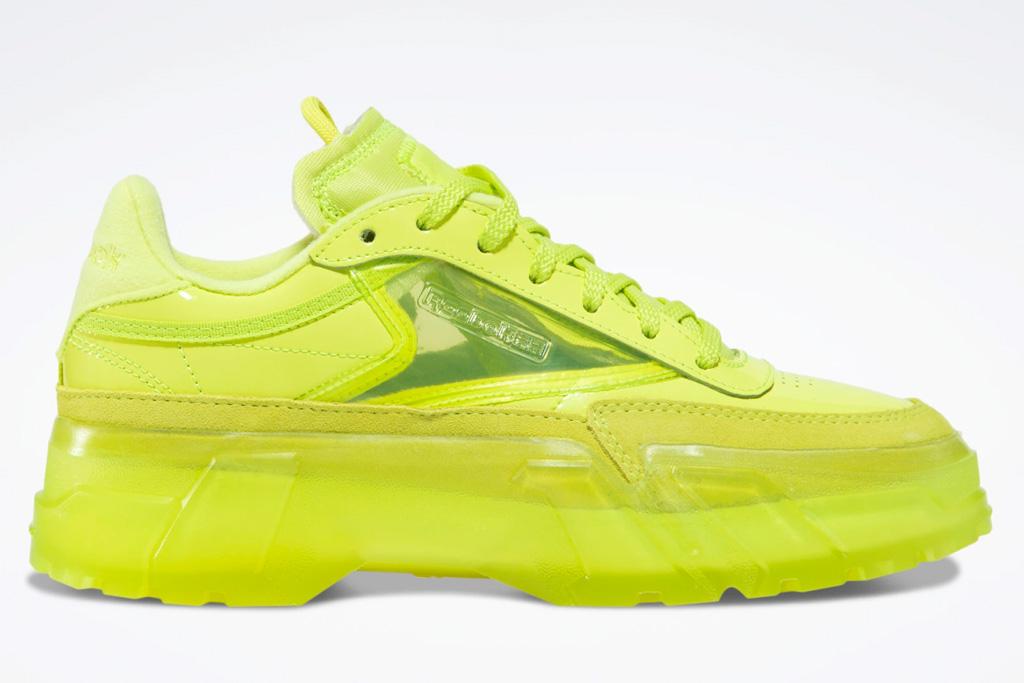 cardi b, reebok, yellow, white, pink, neon, club c cardi, release