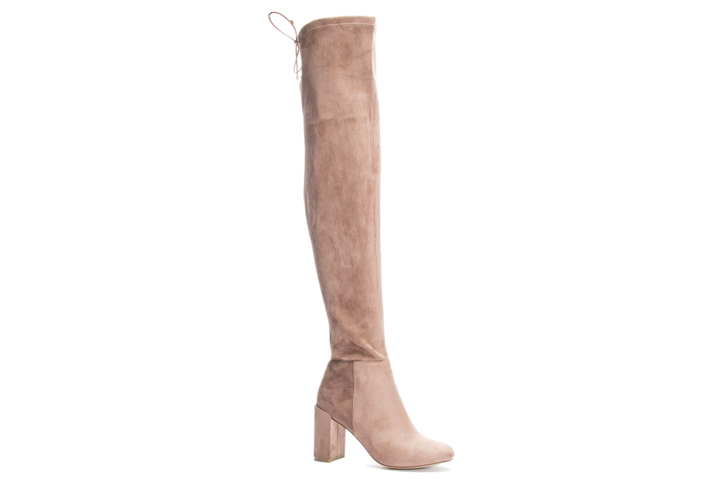 over the knee boots, suede, tan, chinese laundry