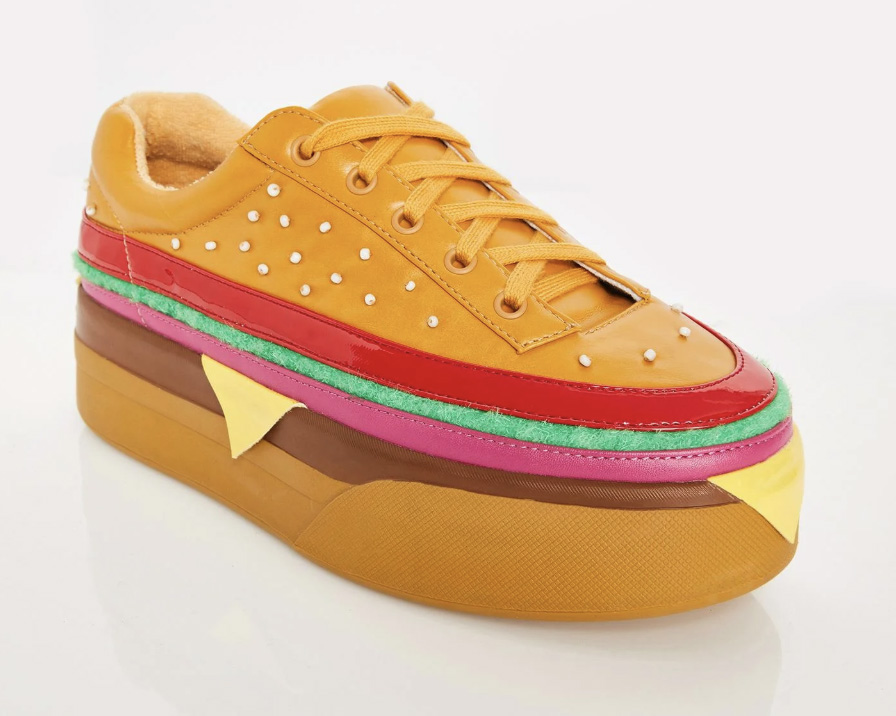 Dolls Kill, burger shoes,Extra Cheese Plz sneakers