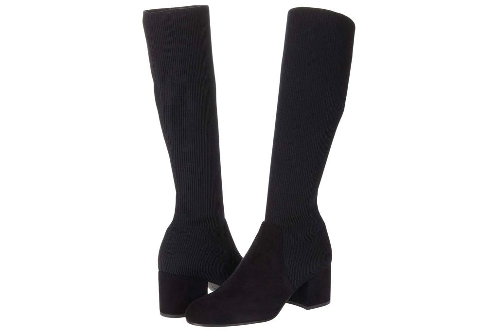 eileen fisher, black boots, knee high