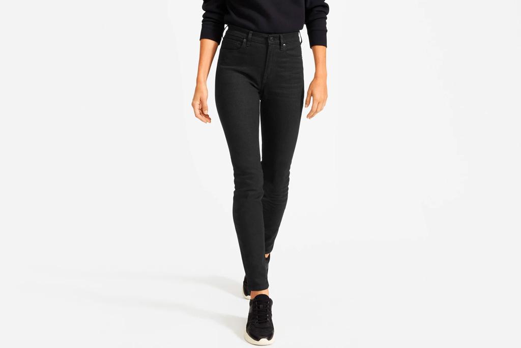 skinny jeans, black, everlane
