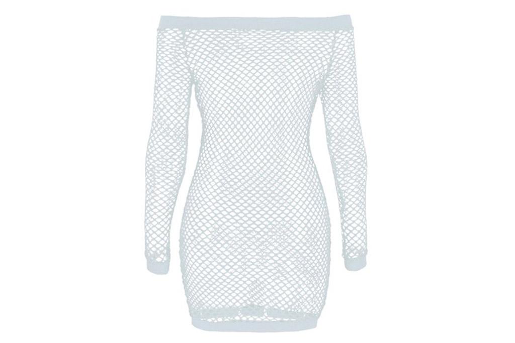 fishnet dress, white, walmart