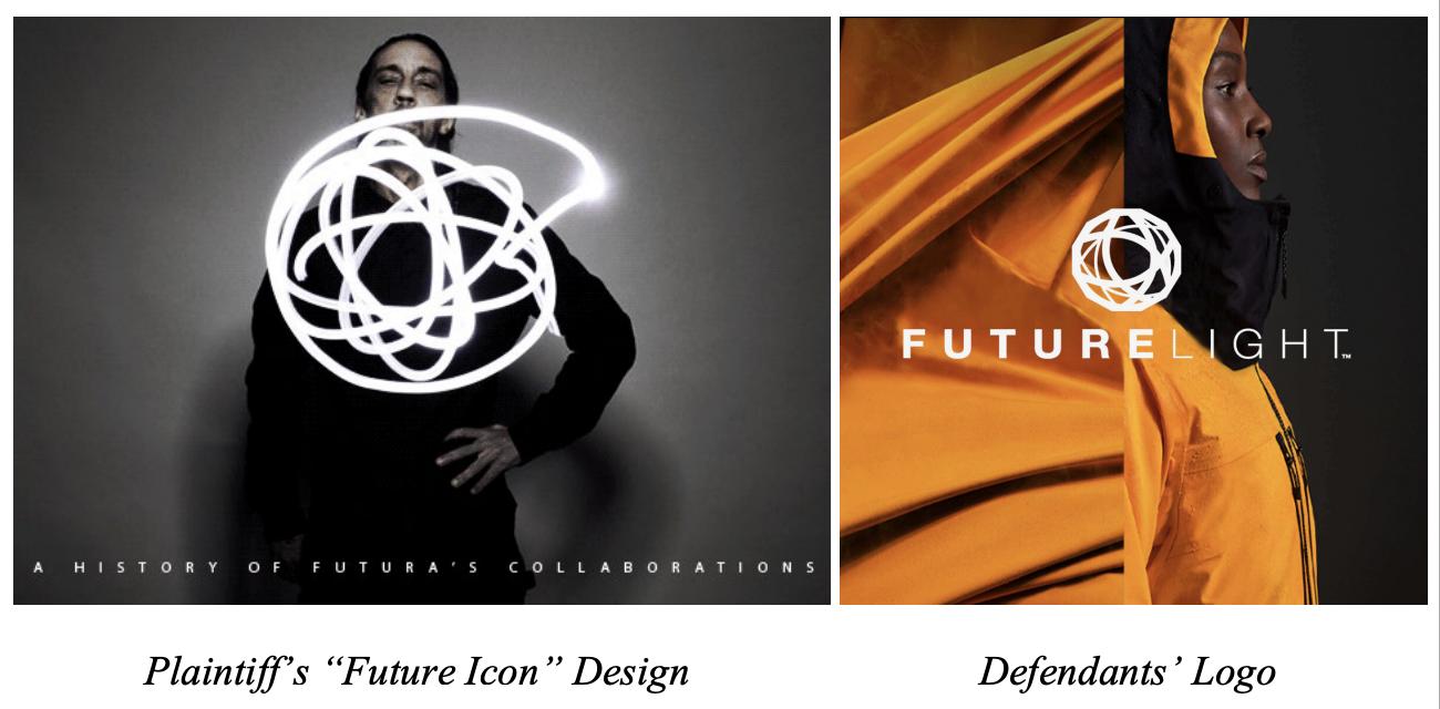 Futura, Leonard McGurr, v. The North Face and VF Corp. 'Futurelight' logo
