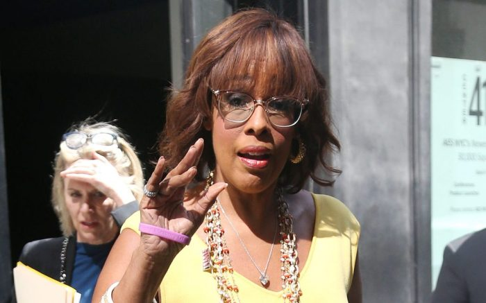 Gayle King on her way out of the TIME 100 Summit in New York