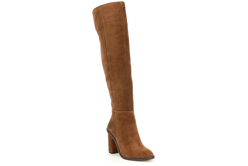 suede boots, slouchy, brown, gianni bini