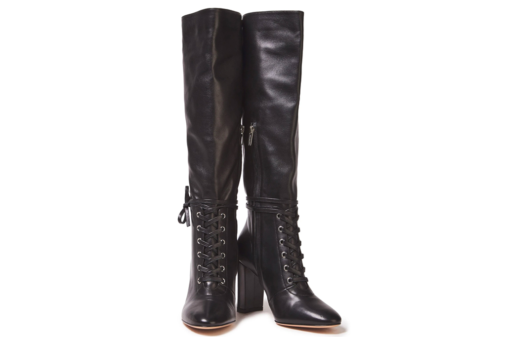 gianvito rossi, lace up boots, knee high