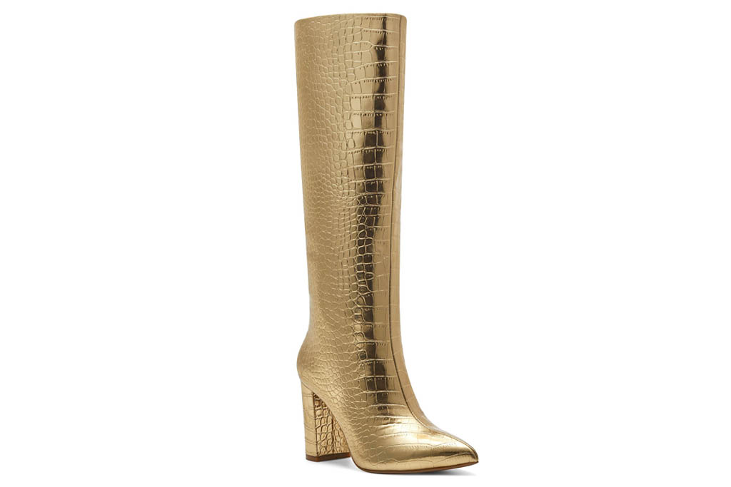gold boots, boots, inc