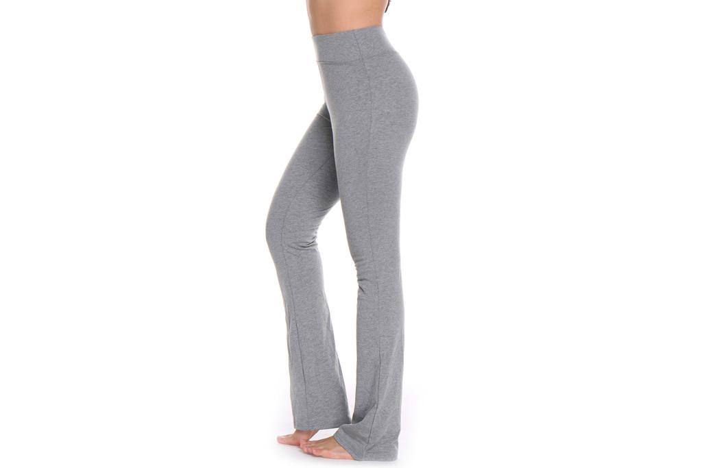 yoga pants, gray