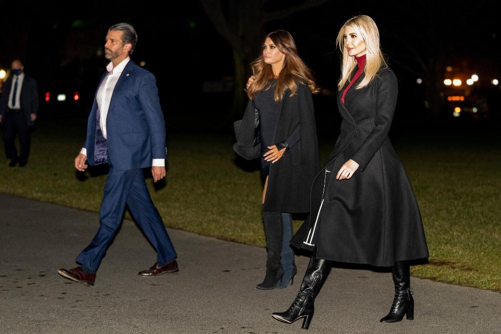ivanka trump, boots, coat, white house, sweater, shirt, dress, brother, donald trump jr, president, donald trump, georgia, election, kimberly guilfoyle