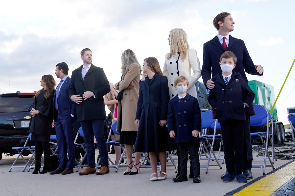 ivanka trump, boots, jeans, tiffany trump, michael boulos, melania trump, donald trump, farewell, leave white house, dress, coat, heels, mar-a-lago, last day