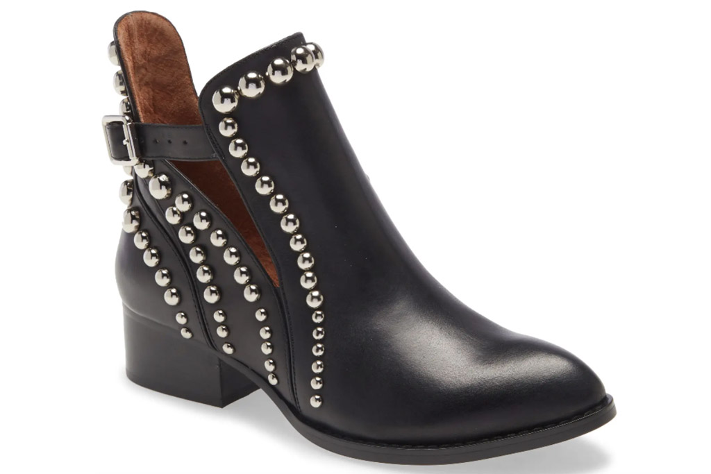 black boots, studded, heels, leather, jeffrey campbell