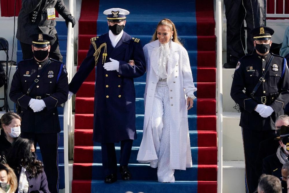 jennifer lopez, pants, chanel, inauguration