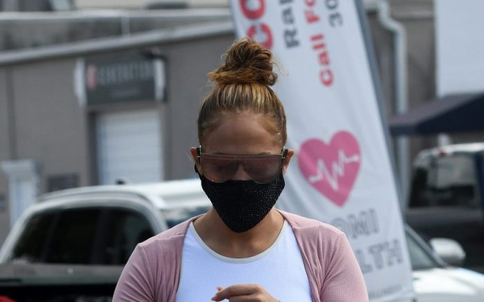 Jennifer Lopez arrives at Miami gym showing off her midriff