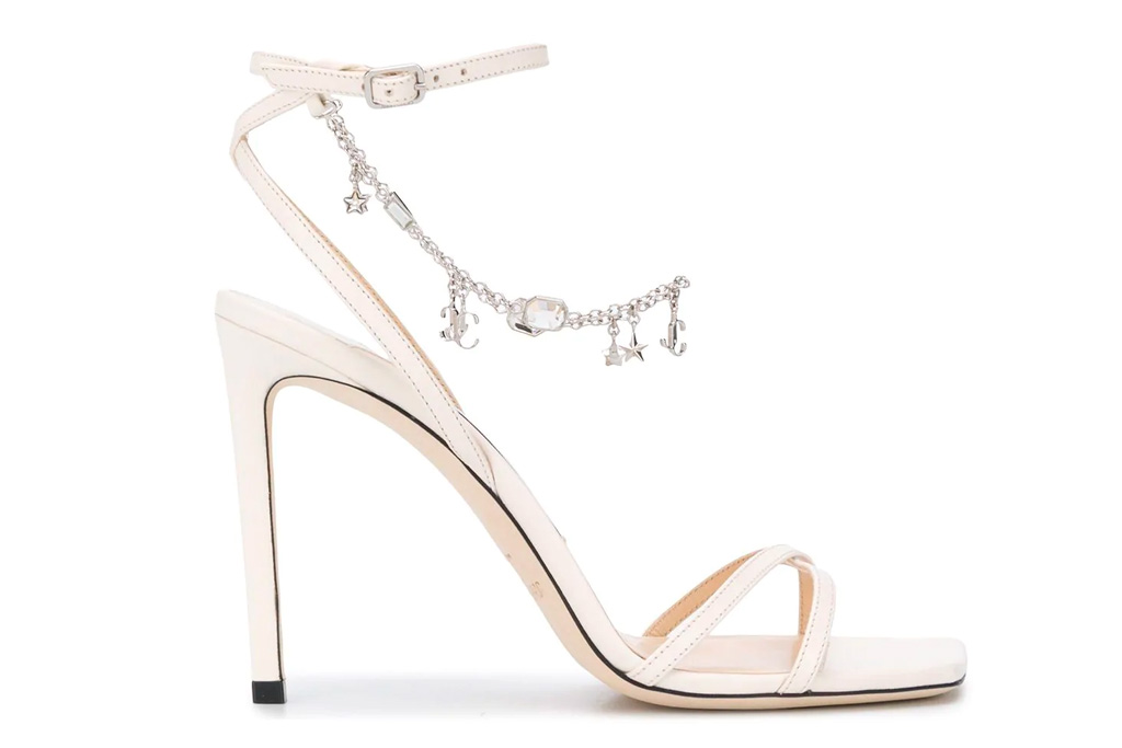 Jimmy Choo Metz sandals, heels, chain