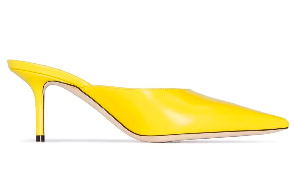 jimmy choo, yellow mules