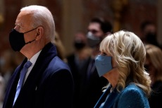 Jill Biden Attends Church on Inauguration Day in a Crystal-Coated Dress With Joe Biden
