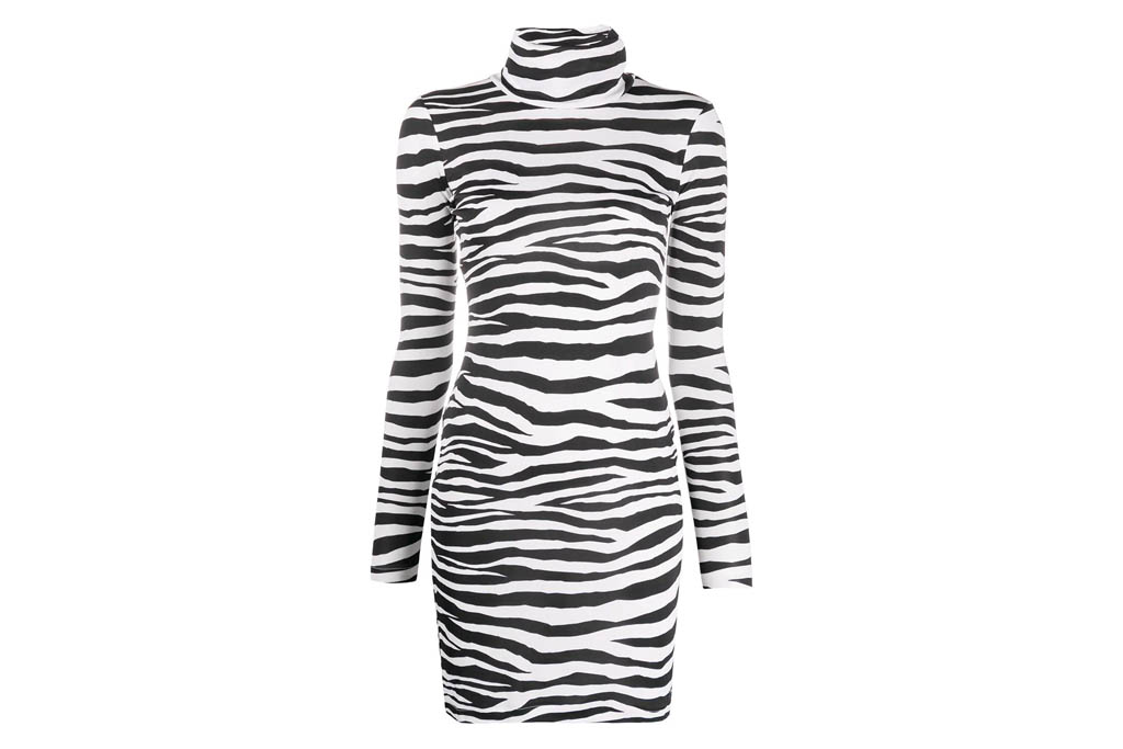 zebra dress, stripe, just cavalli