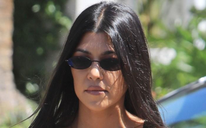 Kourtney Kardashian, bralette, pants