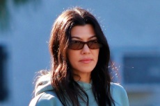 Kourtney Kardashian Takes a Hike in a Sports Bra, Biker Shorts & Sculptural Adidas Yeezys