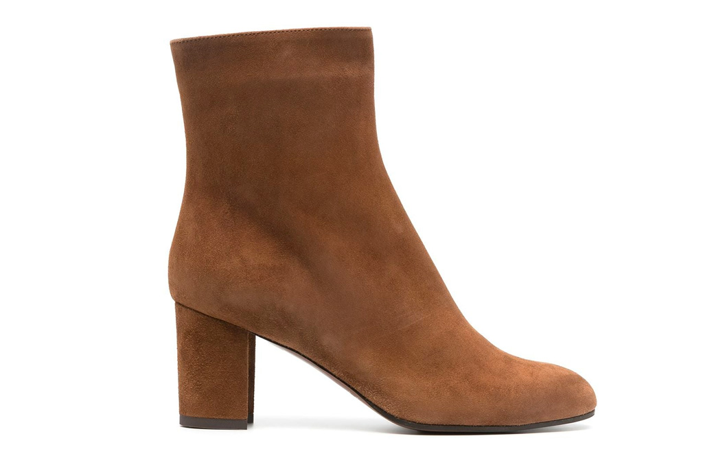 suede boots, slouchy, brown, lautre chose