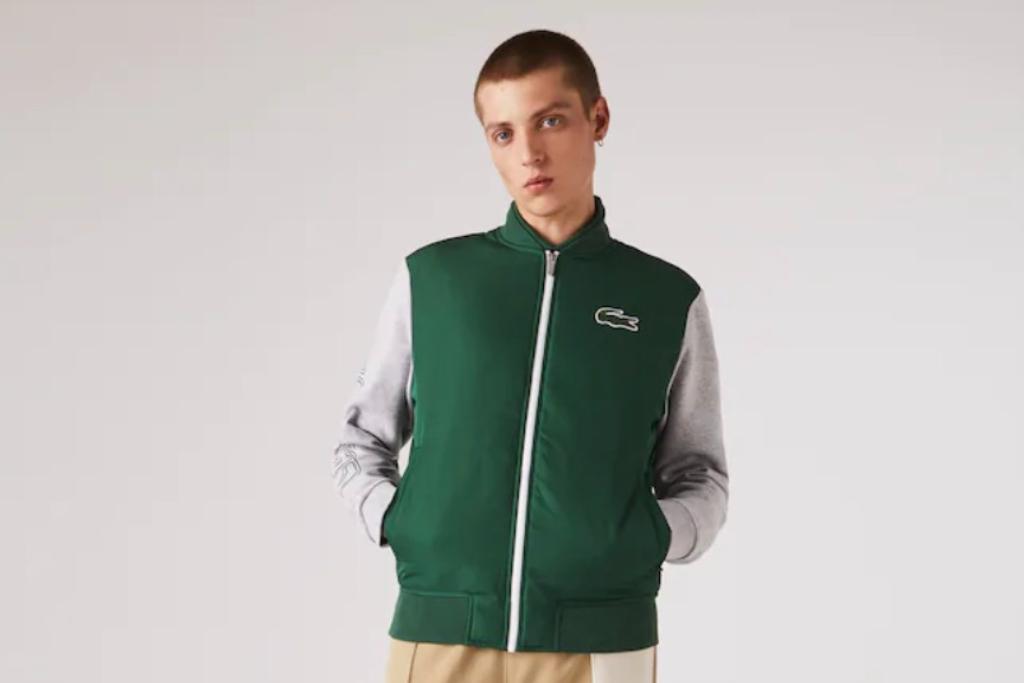 lacoste, zip up jacket
