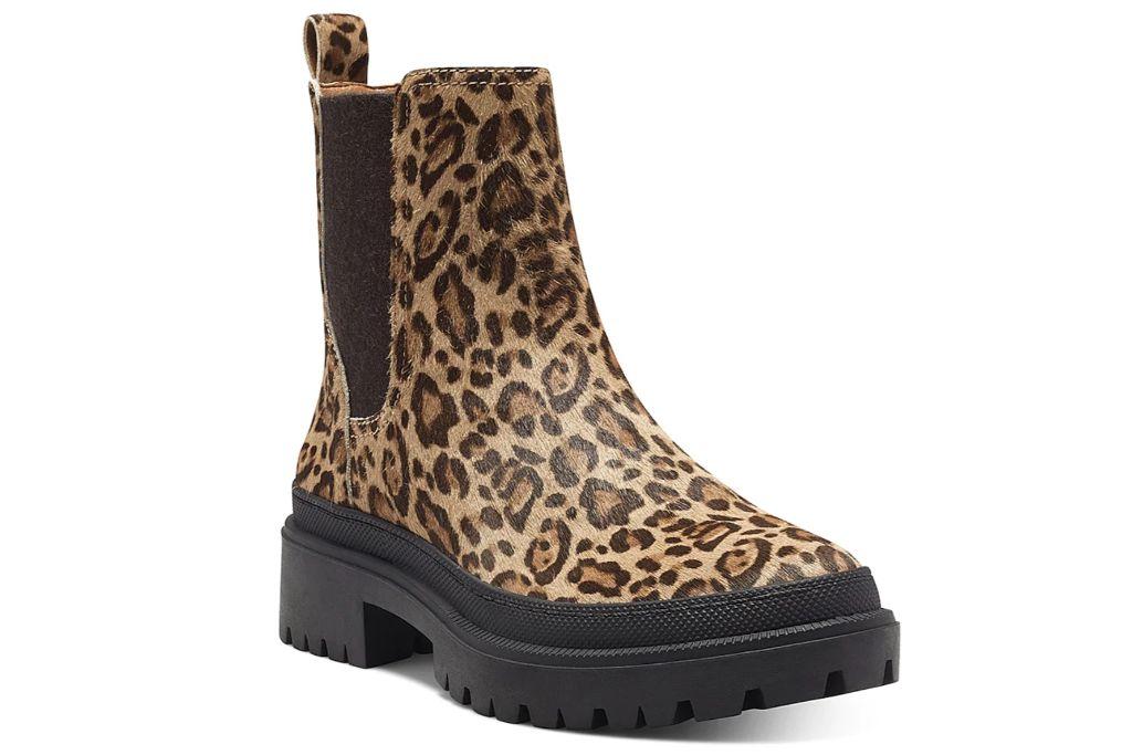 lucky brand, animal print, chelsea boot