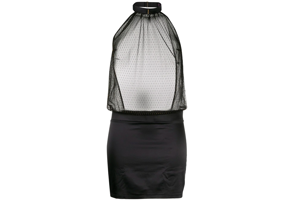 black dress, slip dress, maison close